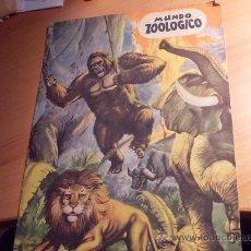 Coleccionismo Álbumes: MUNDO ZOOLOGICO ( ALBUM INCOMPLETO. 58 CROMOS DE 294 ) FHER AÑO 1963. Lote 29085714