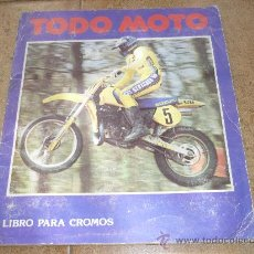 Coleccionismo Álbumes: TODO MOTO ÁLBUM CROMOS (1983) FALTAN 33. Lote 29078538