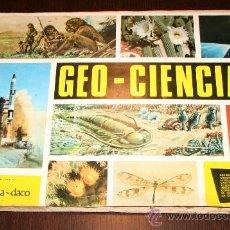 Coleccionismo Álbumes: ALBUM GEO CIENCIAS - ED. SCHEELITA DACO - 1967 - SÓLO FALTAN 6 CROMOS. Lote 29182418