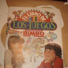 Coleccionismo Álbumes: BIMBO ALBUM EL LIBRO DE LOS JUEGOS CON 144 CROMOS. Lote 29193467