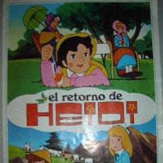 Coleccionismo Álbumes: ALBUM CROMOS HEIDI FHER 1976 - CON 46 CROMOS - EL REGRESO DE HEIDI - GENERAL. Lote 29288603