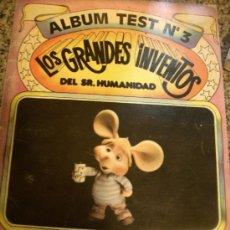 Coleccionismo Álbumes: ALBUM TEST Nº 3 - LOS GRANDES INVENTOS DEL SR. HUMANIDAD - (TOPO GIGIO) - ARGENTINA. Lote 29444978
