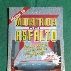 Coleccionismo Álbumes: ALBUM DE CROMOS MOSTRUOS DEL ASFALTO DE MOTOR 16. Lote 29717528