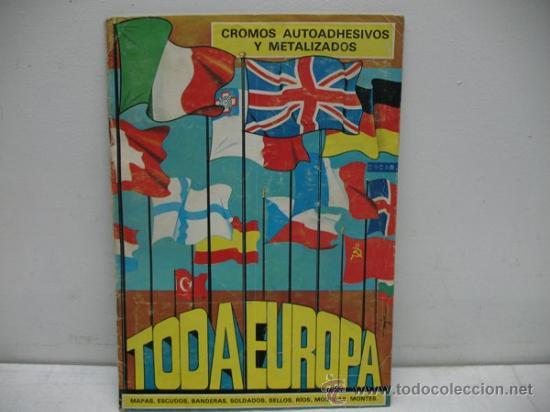 ALBUM CON CROMOS AUTOADHESIVOS Y M,ETALIZADOS -TODA EUROPA- (Coleccionismo - Cromos y Álbumes - Álbumes Incompletos)