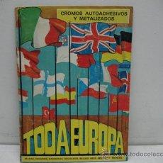 Coleccionismo Álbumes: ALBUM CON CROMOS AUTOADHESIVOS Y M,ETALIZADOS -TODA EUROPA-. Lote 30187934