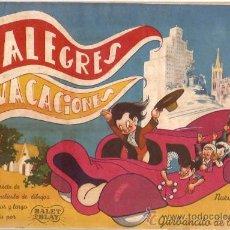 Coleccionismo Álbumes: ALBUM INCOMPLETO ALEGRES VACACIONES RUIZ ROMERO. Lote 30296574