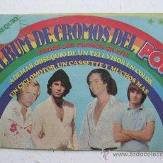 Coleccionismo Álbumes: RARO ALBUM DE CROMOS DEL POP - SUPER POP - PUBLICACIONES HERES, S.A. - AÑO 1972. Lote 30512002