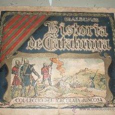 Coleccionismo Álbumes: ALBUM CHOCOLATE JUNCOSA HISTORIA DE CATALUNYA. Lote 53436868