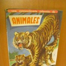 Coleccionismo Álbumes: ALBUM ANIMALES,DE FHER 1961, CON 395 CROMOS DE LOS 450 QUE SE COMPONE LA COLECCION. Lote 31812780