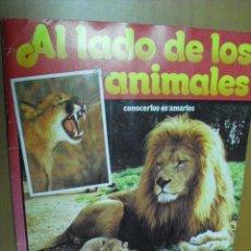 Coleccionismo Álbumes: ALBUM AL LADO DE LOS ANIMALES,DE TELE INDESCRETA 1985 CON 238 CROMOS DE 256. Lote 32124824
