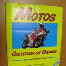 Coleccionismo Álbumes: ALBUM MOTOS, FALTAN 13 CROMOS. Lote 32125484