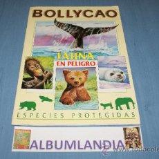 Coleccionismo Álbumes: ALBUM INCOMPLETO DE FAUNA EN PELIGRO AÑO 1995 DE BOLLYCAO. Lote 32246333