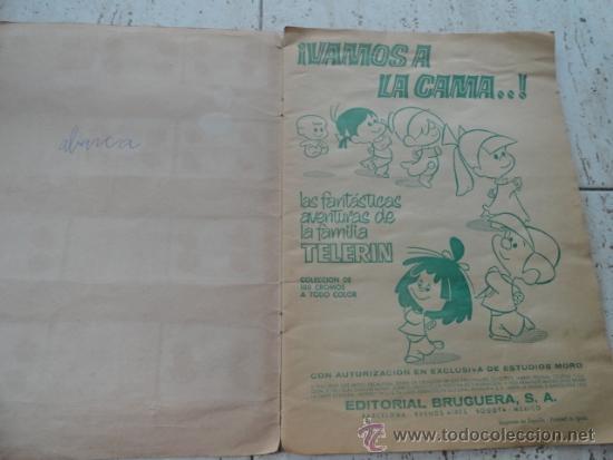 Coleccionismo Álbumes: ALBUM DE CROMOS VAMOS A LA CAMA, DE LA FAMILIA TELERIN - Foto 3 - 32598404
