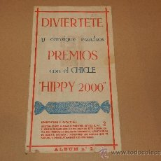 Coleccionismo Álbumes: (M-ALB2) ALBUM DIVIERTETE Y CONSIGUE MUCHOS PREMIOS CON EL CHICLE HIPPY 2000 , NUM 2. Lote 48431287