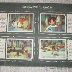 Coleccionismo Álbumes: GARBANCITO DE LA MANCHA, DE RUIZ ROMERO SIN CUBIERTAS Y CON 216 CROMOS. AÑOS 40 ?. Lote 33544708