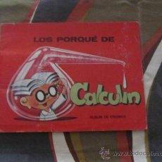 Coleccionismo Álbumes: M69 ALBUM DE CROMOS CALCULIN DE PETETE. Lote 33693324