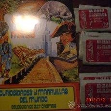 Coleccionismo Álbumes: EL MAS Y EL MENOS: ALBUM NUEVO Y VACIO + 50 SOBRES SIN ABRIR. Lote 169119561