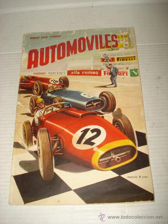 ANTIGUO ALBUM ** AUTOMOVILES **DE EDITORIAL FHER DEL AÑO 1958 (Coleccionismo - Cromos y Álbumes - Álbumes Incompletos)