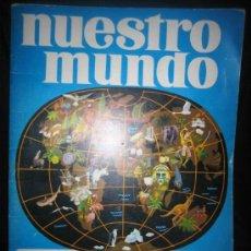 Coleccionismo Álbumes: ATLAS ILUSTRADO NUESTRO MUNDO BIMBO - FALTAN DOS CROMOS. Lote 34182098