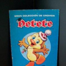 Coleccionismo Álbumes: ALBUM DE CROMOS DE PETETE 1982. . Lote 159589261