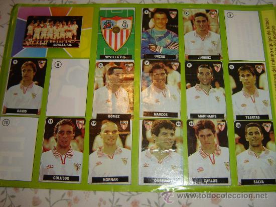 ALBUM DE CHICLE LA LIGA DE LAS ESTRELLAS TEMPORADA 1996 97 (CREO) SEVILLA FC (Coleccionismo - Cromos y Álbumes - Álbumes Incompletos)