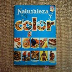 Coleccionismo Álbumes: ALBUM DE CROMOS NATURALEZA Y COLOR. 289 CROMOS.. Lote 34635274