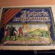 Coleccionismo Álbumes: HISTORIA DE CATALUNYA (CHOCOLATE JUNCOSA ) EN CATALA .. TODOS LOS CROMOS GRANDES (COIB35). Lote 36405384