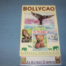 Coleccionismo Álbumes: ALBUM INCOMPLETO DE FAUNA EN PELIGRO AÑO 1995 DE BOLLYCAO. Lote 35059297