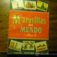 Coleccionismo Álbumes: ALBUM CROMOS MARAVILLAS DEL MUNDO .-2 -COLECC. CULTURA. Lote 35314122