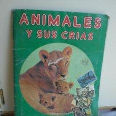 Coleccionismo Álbumes: ANIMALES Y SUS CRIAS FANS COLECCION 1984 SOLO 5 FALTAS. Lote 35756407