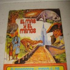 Coleccionismo Álbumes: ANTIGUO ALBUM EL MAS Y EL MENOS DE EDIT. RUIZ ROMERO DEL AÑO 1975 . Lote 35887208