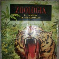 Coleccionismo Álbumes: ALBUM DE CROMOS (ZOOLOGIA 192 CROMOS TIENE 103 CROMOS). Lote 35965758