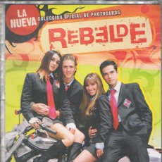 Coleccionismo Álbumes: ALBUM INCOMPLETO PANINI DE POSTALES LA NUEVA COLECCION OFICIAL DE REBELDE 59 DE 108. Lote 36462742