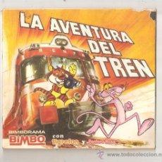Coleccionismo Álbumes: ALBUM CROMO PANTERA ROSA Y TIGRETON - LA AVENTURA DEL TREN - ALBUM SIN CROMO BIMBORAMA BIMBO. Lote 37035503
