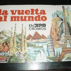 Coleccionismo Álbumes: LA VUELTA AL MUNDO EN 320 CROMOS ALBUM NUEVO MAS 125 CROMOS. Lote 37228209