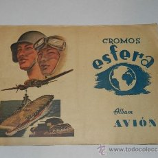 Coleccionismo Álbumes: CROMOS ESFERA , ALBUM AVION 1942 - CONTIENE 58 CROMOS , COLECCION DE 80 CROMOS, EDT AMELLER. Lote 37571798