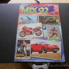 Coleccionismo Álbumes: MIX 92. CROMOS ROS (1992) INCOMPLETO. Lote 37646802