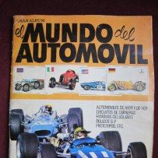 Coleccionismo Álbumes: GRAN ÁLBUM EL MUNDO DEL AUTOMOVIL - EDIT. BRUGUERA - 1970. INCOMPLETO A FALTA DE 48 CROMOS DE 288.. Lote 37706268