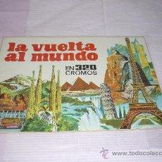 Coleccionismo Álbumes: ALBUM: LA VUELTA AL MUNDO EN 320 CROMOS PLANCHA ESTADO PERFECTO . Lote 38282987