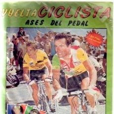 Coleccionismo Álbumes: VUELTA CICLISTA. ASES DEL PEDAL. ALBUM INCOMPLETO A-ALB-864. Lote 38497576