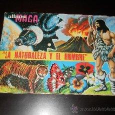 Coleccionismo Álbumes: ALBUM DE CROMOS EDITORIAL MAGA LA NATURALEZA Y EL HOMBRE AÑO 1967 , , CON 256 CROMOS . Lote 38500659
