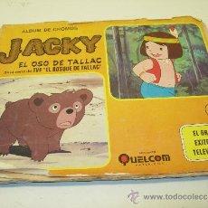 Coleccionismo Álbumes: ALBUM DE CROMOS JACKY EL OSO DE TALLAC QUELCOM AÑO 1978, FALTAN 23 CROMOS DE 191. Lote 38754640