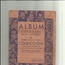 Coleccionismo Álbumes: RARISIMO Y UNICO ALBUM FOTO CINE MINIATURA A FALTA DE 3 CROMOS. Lote 38828609