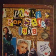 Coleccionismo Álbumes: PANINI POP STARS 1989 - VACIO. Lote 205694848