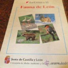 Coleccionismo Álbumes: ALBUM DE CROMOS FAUNA DE LEON , VACIO. Lote 39016523