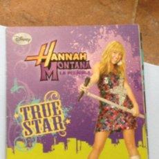 Coleccionismo Álbumes: ALBUM HANNAH MONTANA LA PELICULA TRUE STAR PANINI DISNEY CON 69 CROMOS. Lote 39056662