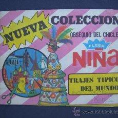 Coleccionismo Álbumes: COLECCIÓN TRAJES TIPICOS DEL MUNDO - RARO ALBUM EDITADO POR CHICLE FLEER NIÑA - INCOMPLETO. Lote 39249840
