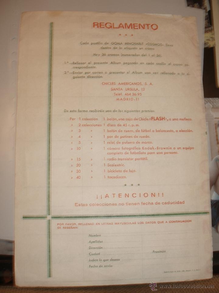 Coleccionismo Álbumes: ALBUM CHICLE NEGRO COSMOS - Foto 2 - 39394649