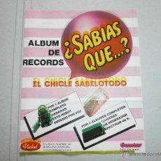 Coleccionismo Álbumes: ALBUM DE CROMOS SABIAS QUE DE CHICLES GUMTAR VACIO. Lote 39671180