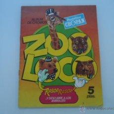 Coleccionismo Álbumes: CROPAN ZOO LOCO 1980 ALBUM VACIO RASCA RASCA. Lote 39885475